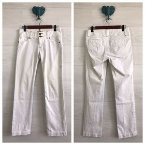 CAbi Jeans White Lou Lou Straight Leg Jeans for sale
